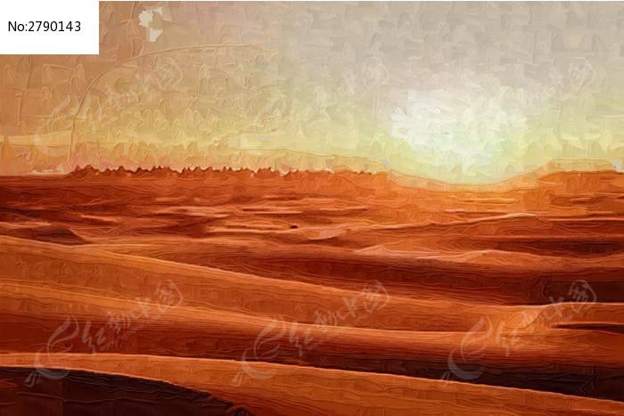 沙漠装饰画