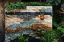 水池园林装饰墙