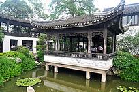 苏州木渎镇的水榭