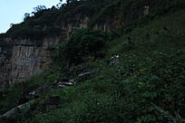一片乱石与断壁