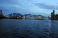 傍晚十分的香港海湾