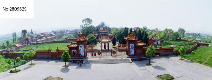 当阳关陵正门全景俯视图片,高清大图_教堂寺庙素材