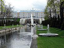 欧洲古堡花园景观