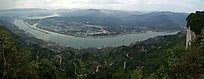 三峡工程坝区全景