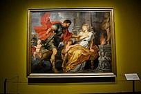 战神马尔斯与女祭司西尔维亚相遇
