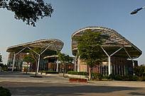 郑州绿博园的现代风格建筑