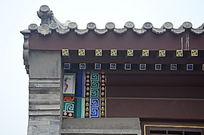 中国古代古朴建筑屋顶屋檐