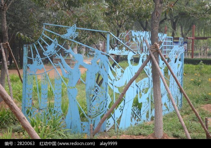 蓝色 皮影戏 剪纸 雕刻 花纹 图案 雕像 雕塑图片