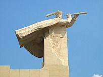 民族英雄郑世昌雕塑