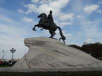 尼古拉一世 青铜骑马雕像
