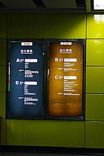 地铁广告牌