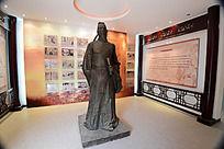 沁阳博物馆的李商隐雕像