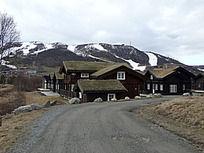 瑞士雪山边户外小镇