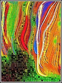 色彩涂鸦油画