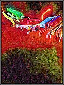 艺术色彩油画