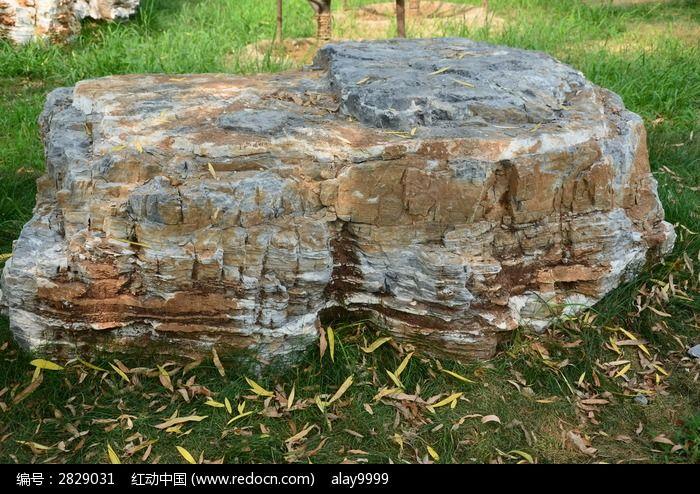 大石头景观小品手绘图