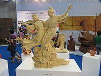 牛郎织女雕塑