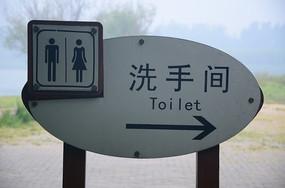 洗手间指示牌