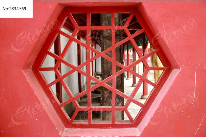 六边形 木刻 窗花图片