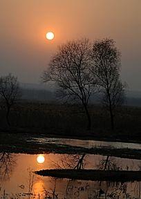 落日下的风景