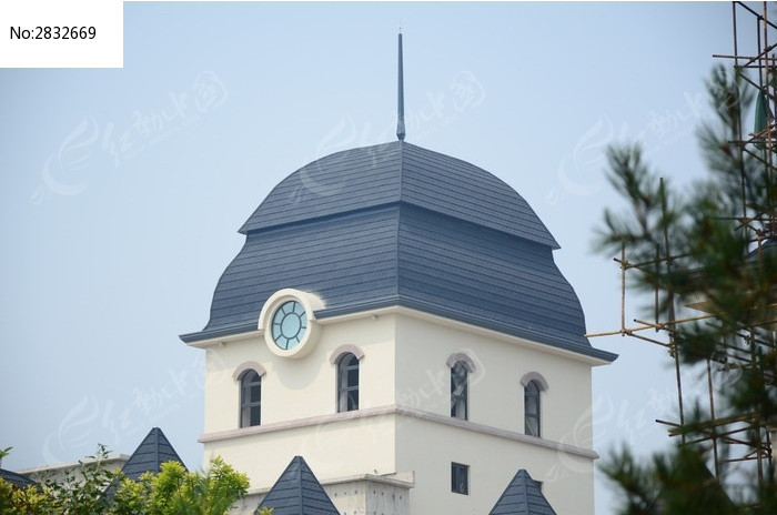 欧式房屋圆顶图片
