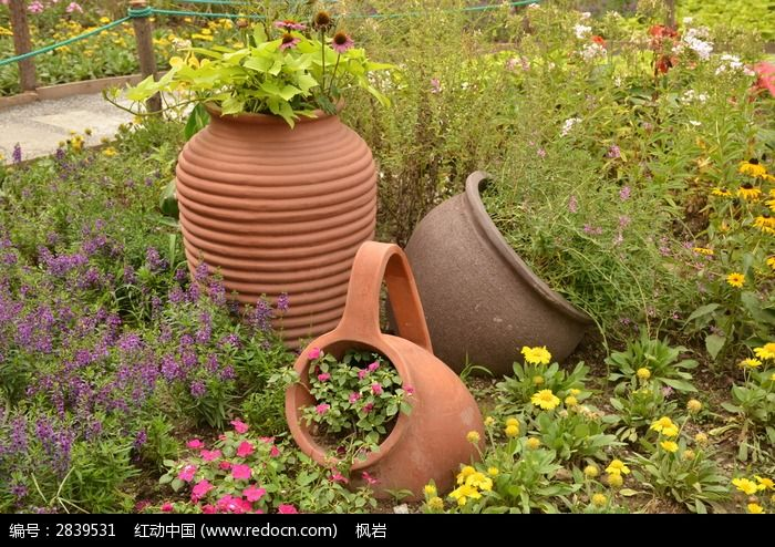 欧式设计花卉景观图片