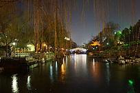 泉城济南的夜景