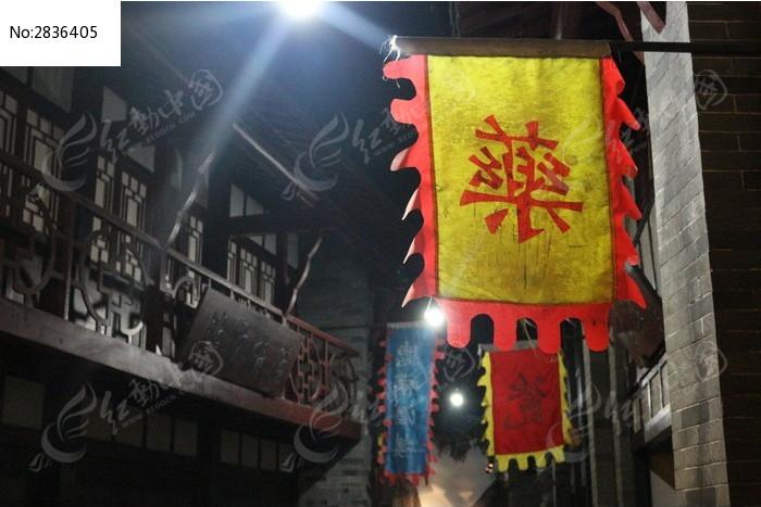 安徽亳州博物馆内部仿古街道图片