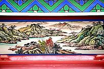 古建筑上的彩绘山水画
