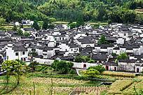 鸟瞰西递村