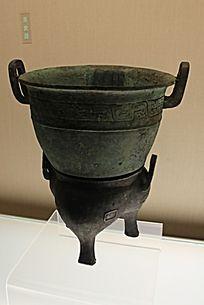 双层盛食物铜器器皿