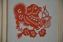 潍坊博物馆十二生肖剪纸之狗
