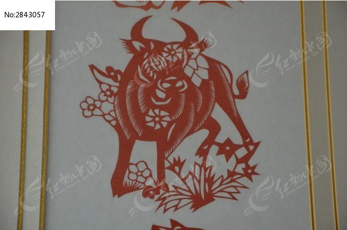 潍坊博物馆十二生肖剪纸之牛