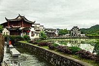黟县西递村口景观