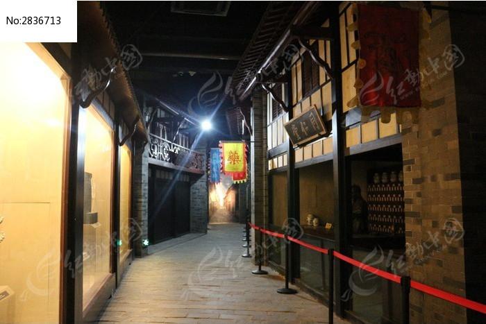 亳州博物馆内部仿古街道图片