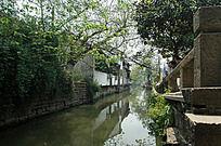 苏州盘门景区的小河