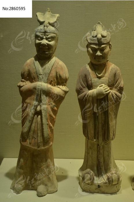 汉代武士陶俑图片