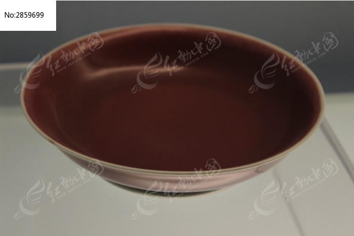紅釉大瓷碗高清圖片下載 紅動網