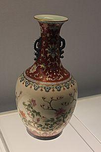 花彩植物花卉瓷瓶
