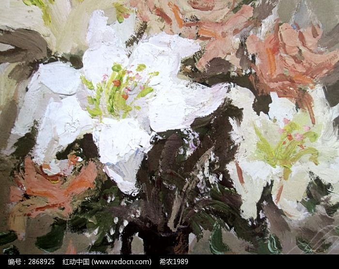 水粉画花卉图片