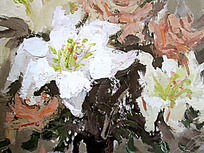 水粉画花卉