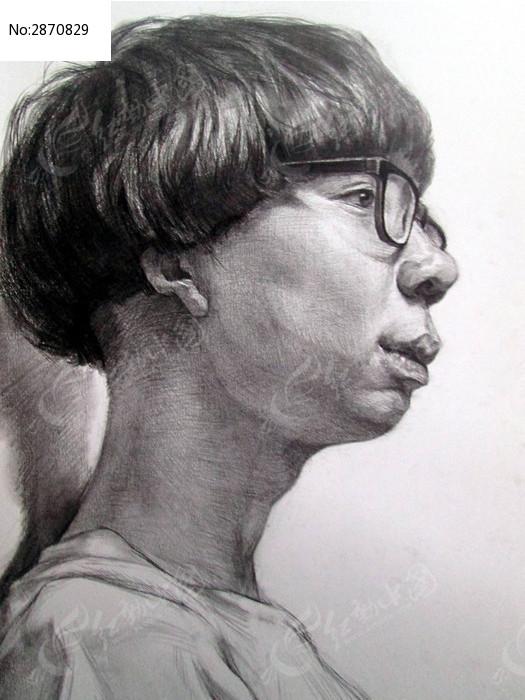 黑白 铅笔画