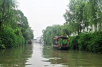 苏州定园的优美小河