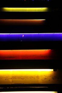 彩色光条楼梯
