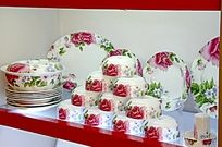 景德镇红花瓷器餐具套装