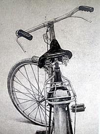 素描自行车