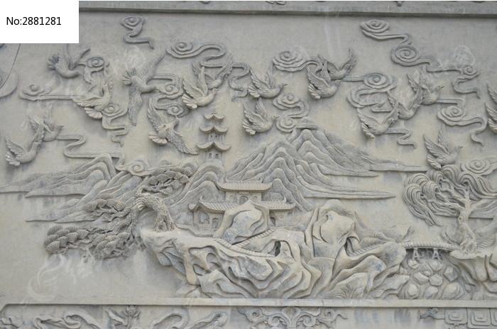浮雕-百鸟朝凤石雕高清图片下载 编号2881281 红动网图片