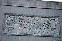 红军与农民的雕刻