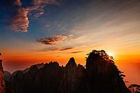 黄山始信峰上观日出