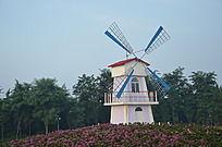 寿光弥河爱情公园里的荷兰风车